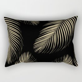 Palm Leaves - Gold Cali Vibes #4 #tropical #decor #art #society6 Rectangular Pillow
