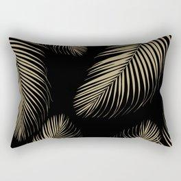 Palm Leaves - Gold Cali Vibes #4 #tropical #decor #art #society6 Rectangular Pillow