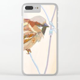 The Spiraled Sparrow Clear iPhone Case