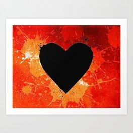 Red Hot Heart Art Print