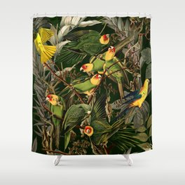 Floral and Birds XXXVI Shower Curtain