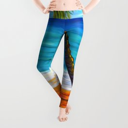 Maui Beach Day Leggings