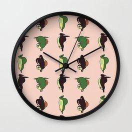 Handstand Avocado Wall Clock