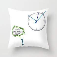 Shattered Frozen Time Throw Pillow