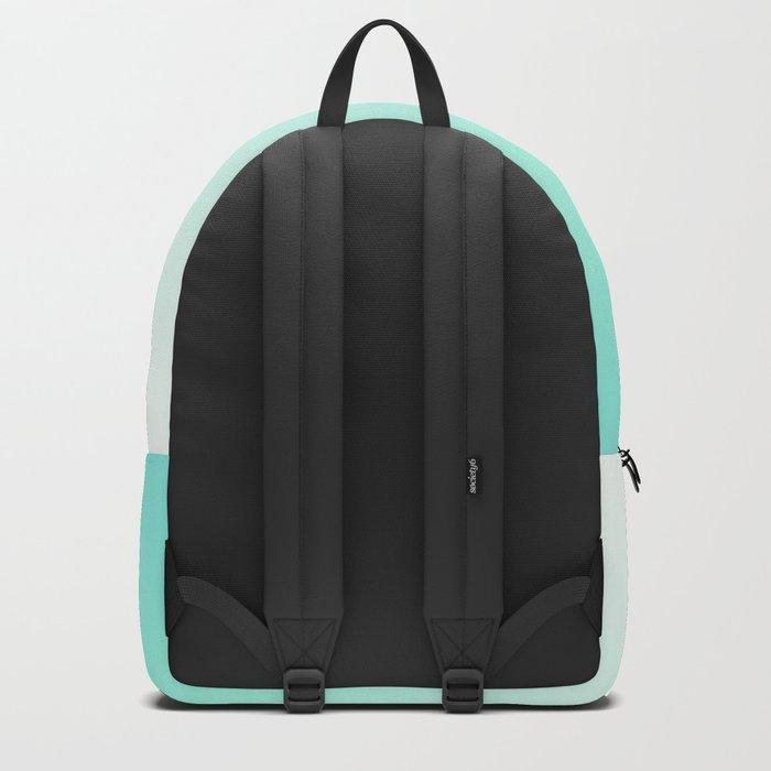 Ombre gradient digital illustration green, blue colors Backpack