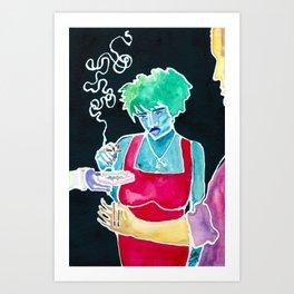 Smoking Hot Slave-Driver Art Print
