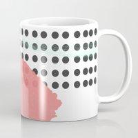 polka dot Mugs featuring polka dot by Ceren Aksu Dikenci