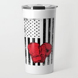 US Gloves Flag Boxing Gloves Funny Happy 4th Fourth Of July Travel Mug