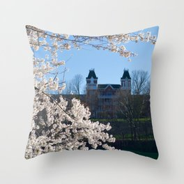 The Kennedy Art Museum in Spring Throw Pillow