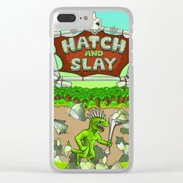 Hatch And Slay Cover Art Clear iPhone Case