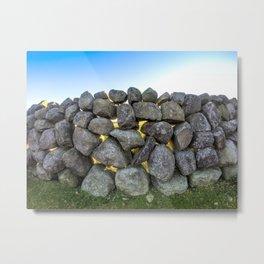 Stone Wall Metal Print
