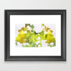 green verede watercolor acuarela Framed Art Print