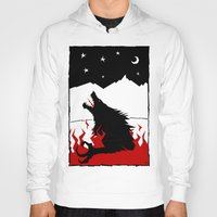 werewolf Hoodies featuring Werewolf by FROM THE ABYSS TO THE STARS