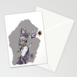 Dark sorceress by AngeloPeluso Stationery Cards