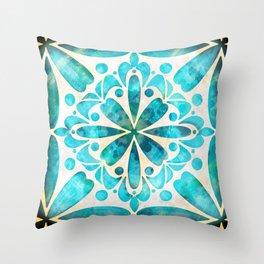 Royal Turquoise Throw Pillow