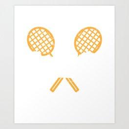 Badminton Coach Paddle Player Pickleball Art Print