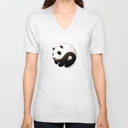 Panda yin-yang Unisex V-Neck