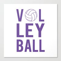 volleyball Canvas Prints featuring Volleyball (lavendar) by raineon
