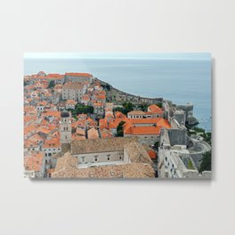 Dubrovnik Old Town roofs and walls Metal Print