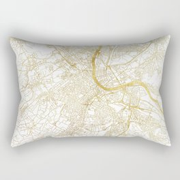 Basel Map Gold Rectangular Pillow