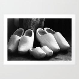 Family clogs Art Print