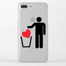 Heart Trash Bin Clear iPhone Case