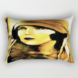 Lady in Fur. Rectangular Pillow