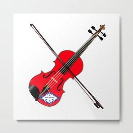 Arkansas State Fiddle Metal Print