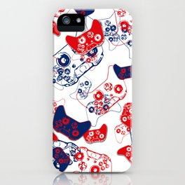 Video Game Red White & Blue 3 iPhone Case