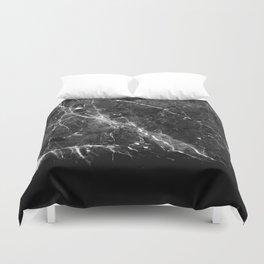 Black Gray Marble #1 #decor #art #society6 Duvet Cover