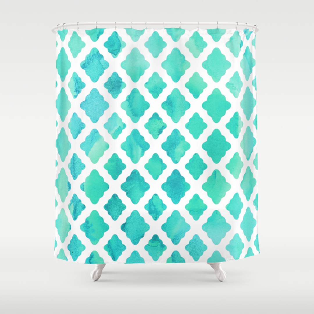 Mint green shower curtain and rugs - Mint Green Shower Curtain And Rugs 43