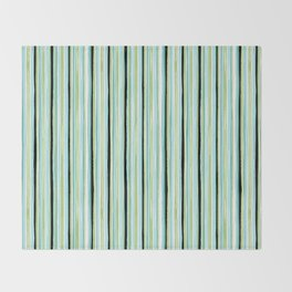Watercolor Sea Glass Stripes Throw Blanket
