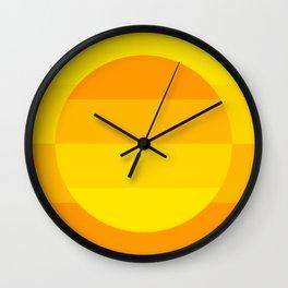 Hardedge abstract geometric art (Yellow) Wall Clock