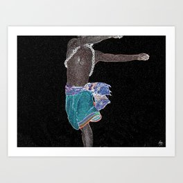 African Constellation Art Print