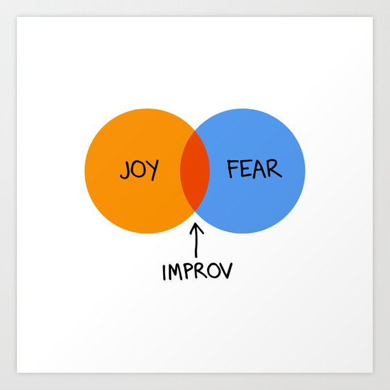 The Venn of Improv (Orange/Blue) by peopleandchairs