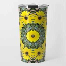 Sunflowers and Bees Travel Mug