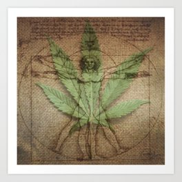 Dr. Vitruvian Art Print