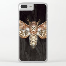 Exaggerated Death's Head Hawkmoth Clear iPhone Case
