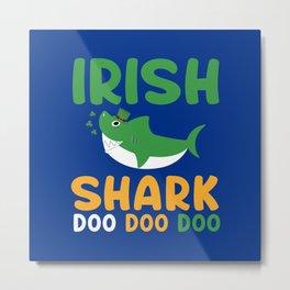 Irish Shark Metal Print