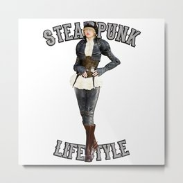Steam Punk Life Style Metal Print