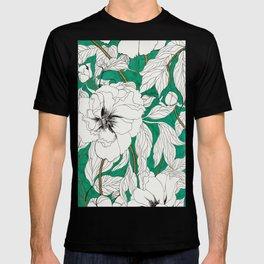 green peonies T-shirt