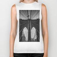 brooklyn bridge Biker Tanks featuring Brooklyn Bridge by Photos by Vincent