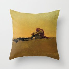 """""""Marooned"""" Pirate Art by Howard Pyle Throw Pillow"""