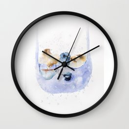Winter Peeps Wall Clock