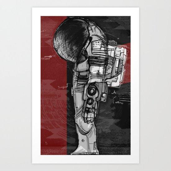 Dieter Rams In Space Art Print