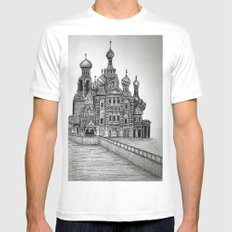 St. Petersburg, Russia White Mens Fitted Tee MEDIUM