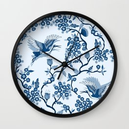 Classi Blue Chinoiserie Wall Clock