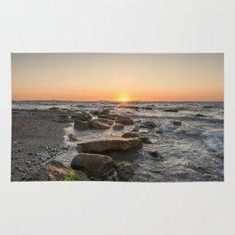 Magic light at sunset Rug