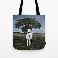 goat Tote Bags featuring Goat by Ana Francisconi