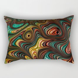Trippy Fractal Rectangular Pillow